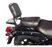 Черная спинка с багажником для мотоцикла Daelim DAYSTAR Black Plus 125 Fi / Dark Plus 125 Fi / Grey Plus 125 Fi