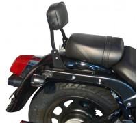 Низкая черная спинка SPAAN для мотоцикла Daelim DAYSTAR Black Plus 125 Fi / Dark Plus 125 Fi / Grey Plus 125 Fi