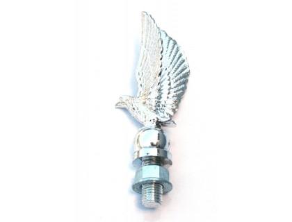 Пластиковая хромированная фигурка орла с металл. креплением на крыло 10см