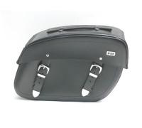 Кофры для мотоцикла кожаные боковые с системой Klick Fix (41х28х17см)