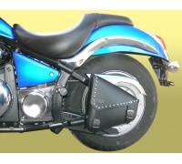 Кофр SPAAN кожаный на маятник для мотоцикла