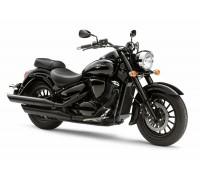Черный багажник (23 см) для мотоцикла Suzuki INTRUDER C800B и BOULEVARD C50 B.O.S.S.