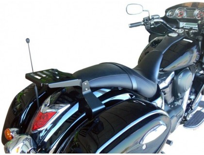 Черный багажник для KAWASAKI VULCAN VN 1700 VOYAGER CUSTOM / VAQUERO