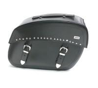 Боковые кожаные кофры c клепками для мотоцикла с системой Klick Fix. (45х32х20см)