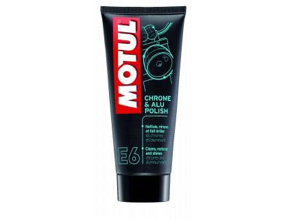 Средство для очистки хромированных поверхностей Motul E6 CHROME & ALU POLISH 100ML