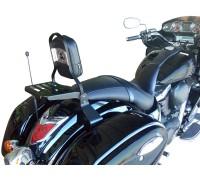 Черная спинка с багажником для мотоцикла KAWASAKI VULCAN VN 1700 VOYAGER CUSTOM / VAQUERO
