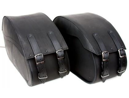 Кофры кожаные боковые большие каркасные для мотоцикла