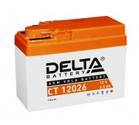 Аккумулятор Delta CT 12026, 12В, 2.5Ач
