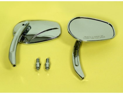 Зеркало для мотоцикла боковое (правое). Металл (хром)