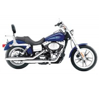 Спинка SPAAN на мотоцикл с багажником HARLEY DAVIDSON DYNA SUPER GLIDE, STREER BOB, LOW RIDER