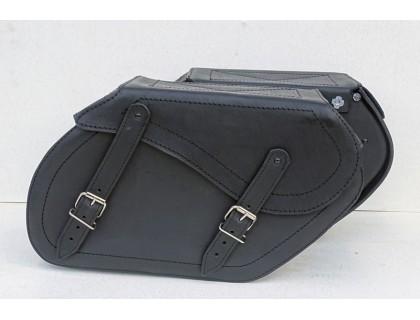 Кофры кожаные боковые для мотоцикла каркасные (крепятся болтами к рамке)