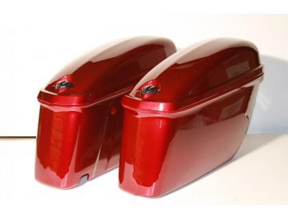 Кофры боковые жесткие (пластик) красные