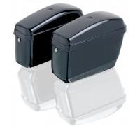 Боковые пластиковые кофры для мотоцикла черного цвета. Модель GA.