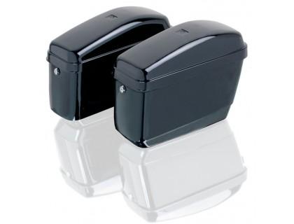 Боковые черные пластиковые кофры GA