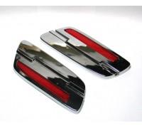 Хромированные накладки-шарниры на крышку для кофров HL