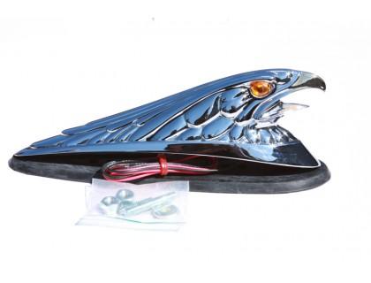 "Декоративная фигура ""орел"" на крыло мотоцикла. С золотым клювом."