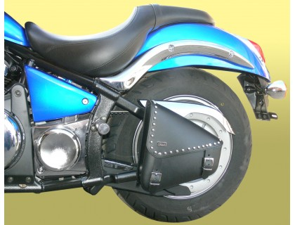 Кожаный кофр на маятник мотоцикла