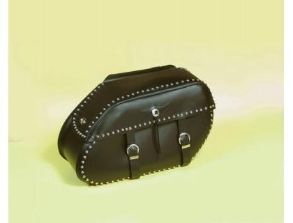 Кофры боковые кожаные с клепками Spaan