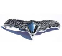 Металлическая хромированная накладка на фару мотоцикла (орел)