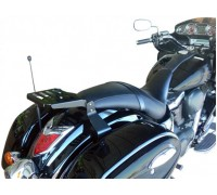 Черный багажник (18 см) для мотоцикла KAWASAKI VULCAN VN 1700 VOYAGER CUSTOM / VAQUERO