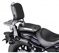Черная низкая спинка SPAAN с багажником для мотоцикла YAMAHA XV 950 BOLT, XV 950 R / BOLT R-SPEC