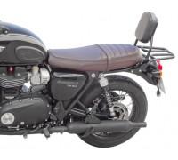 Пассажирская спинка SPAAN черного цвета для мотоцикла Triumph T120 / T120black (2016-…)
