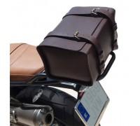 Задний черный центральный кожаный кофр SPAAN для мотоцикла BMW R NineT