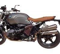 Левый боковой коричневый кожаный кофр SPAAN для мотоцикла BMW R NineT