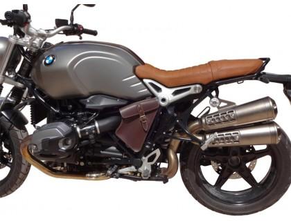 Левый кофр для мотоцикла BMW R NineT, коричневый