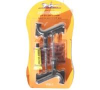 Набор для ремонта бескамерных шин (шило, игла,клей-активатор, жгуты 5 шт)