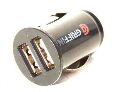 Адаптер USB-разъема под прикуриватель. Ток 2.1А (2 гнезда по 1,05А)