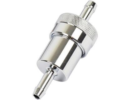 Топливный фильтр 6,5 мм (металл, хром)
