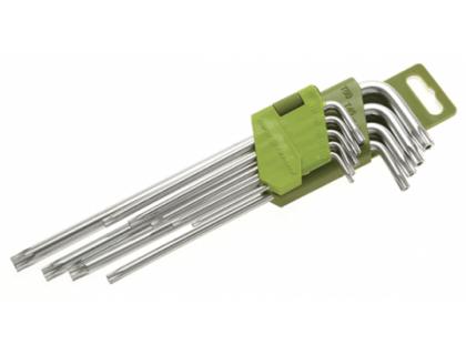 """Набор ключей TORX 9 шт с отв. (Т10,Т15,Т20,Т25,Т27,Т30,Т40,Т45,Т50) """"ДТ"""""""