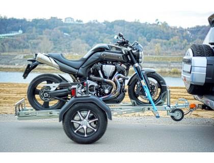 Прицеп автомобильный для перевозки мотоциклов, скутеров и питбайков