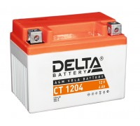 Аккумулятор Delta CT 1204, 12В, 4Ач