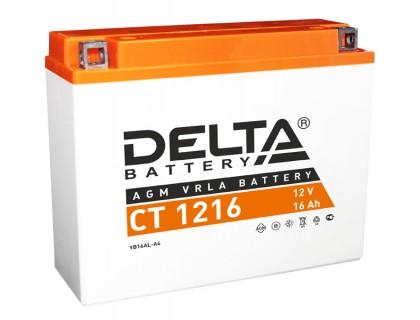 Аккумулятор Delta CT 1216, 12В, 16Ач