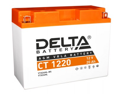 Аккумулятор Delta CT 1220, 12В, 20Ач