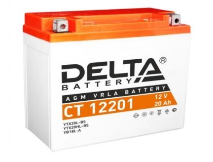 Аккумулятор Delta CT 12201, 12В, 20Ач
