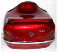 Кофр задний (пластик) под авто красный с габаритами и спойлером