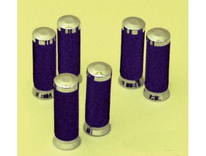 Декоративные ручки на руль (грипсы) Ø22мм. Металл (хром)