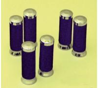 Декоративные ручки на руль (грипсы) Ø25мм. Металл (хром)