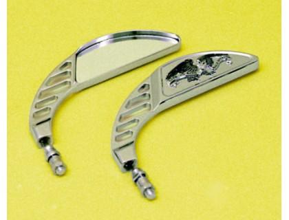 Зеркало для мотоцикла боковое (левое). Металл (хром)