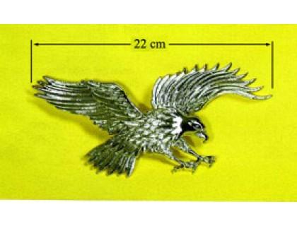 Пластиковая хромированная наклейка на бензобак мотоцикла (орел) 22см