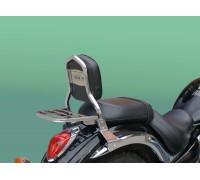 Спинка SPAAN с багажником, черного цвета на мотоцикл KAWASAKI VULCAN VN 900 CLASSIC, CUSTOM, LIGHT TOURER