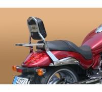 Низкая пассажирская спинка SPAAN с багажником на мотоцикл SUZUKI INTRUDER M1800 / VZ1800R, BOULEVARD M109 / M109R