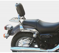 Спинка SPAAN с багажником на мотоцикл HONDA SHADOW VT750 S, VT400 S
