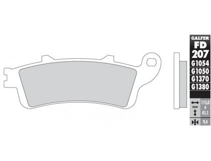 Колодки тормозные для мотоцикла HONDA NRX1800 VALKYRIE, ST1100, VTX1800