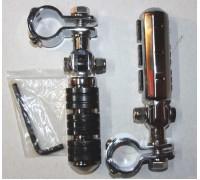 Подножки для мотоцикла хромированные с хомутами 32 мм