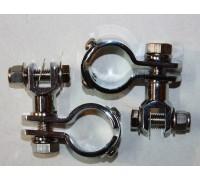 Хомут 32 мм с крепежом для подножек для мотоцикла (пара)