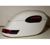 Кофры боковые жесткие с красными фонарями и габаритами. Модель RS